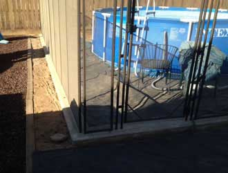 Removable Privacy Fence above ground pool fencing - child safe temporary/removable mesh
