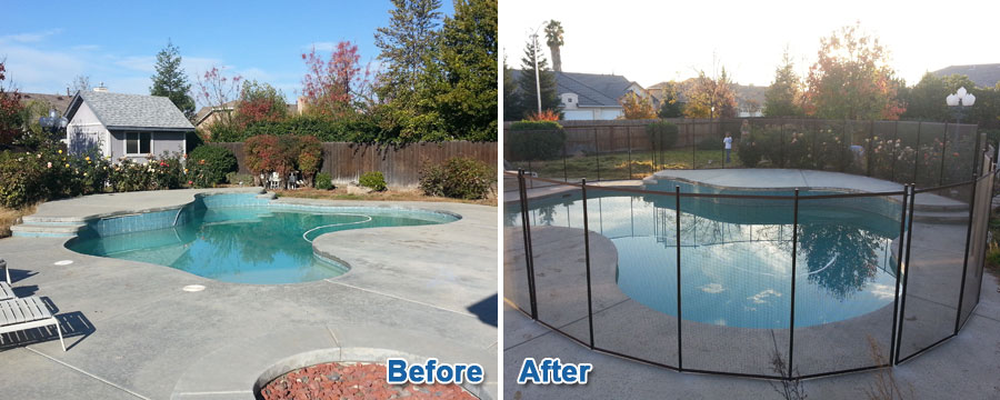 Before & After Pool Fencing