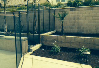 5' Tall Removable Fence Installation