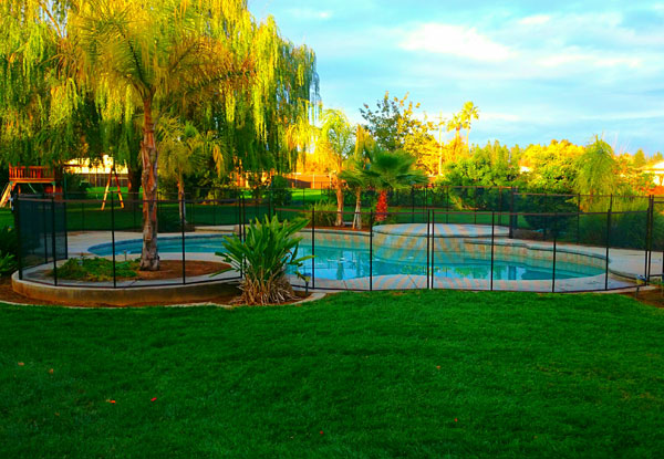 Clovis New Pool Fence Installation