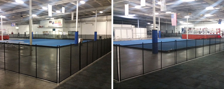Black Pet Mesh Removable Fence, Lemoore, CA