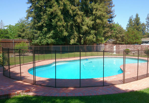 4 1/2' Tall Removable Fence with Black Mesh & Brown Trim